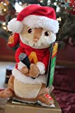 11'' Alvin & The Chipmunks Microphone Animated Musical Christmas Plush - Plays ''The Chipmunk Song (Dee Town Rock Mix)''
