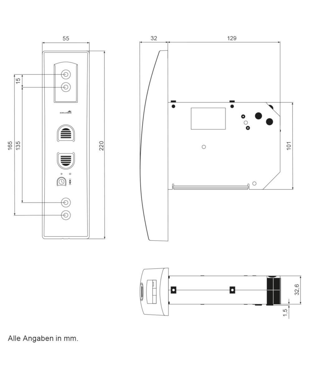 Schellenberg 22745 Elektrischer Gurtwickler Rollodrive 45 Wei Ss