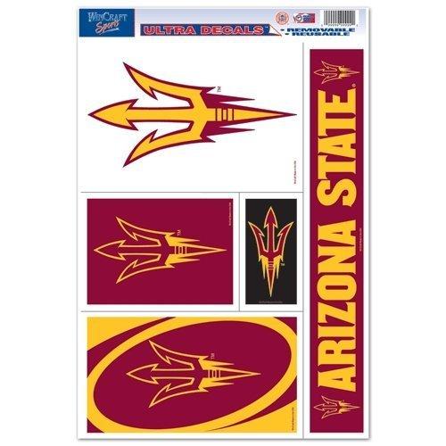 WinCraft NCAA Arizona State University 60246011 Multi Use Decal, 11 x 17, Black