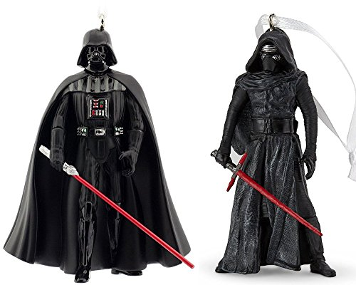 Hallmark Star Wars Villain - Darth Vader & Kylo Ren Keepsake Christmas Ornament Bundle