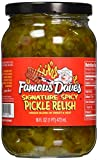 pickle sucker - Famous Dave's Signature Spicy Pickle Relish 16oz Glass Jar (Pack of 3)