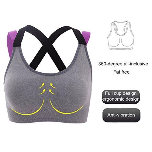 Femme Soutien-gorge de Sport , Vêtements de Sport de Yoga - Push up Soutiens-gorge de Sport Sans Soudure Crossback - pour Jogging Fitness - PRIAMS 7