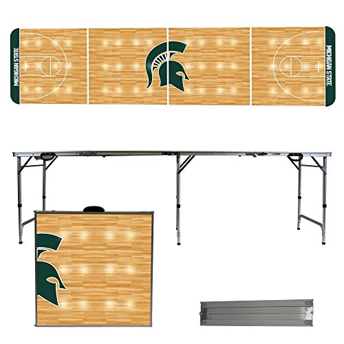 NCAA Michigan State University Spartans Basketball Court Version 8-Feet Folding Tailgate Table by Victory Tailgate