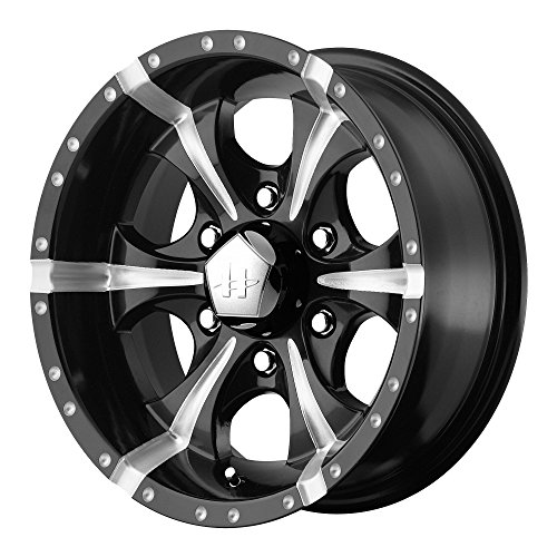 Helo HE791 Maxx Gloss Black Wheel With Milled Accents (17x9