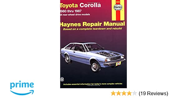 toyota corolla rwd 80 87 haynes repair manuals haynes rh amazon com 1999 Toyota Corolla Repair Manual Toyota Corolla Service Diagrams