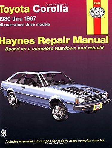 toyota corolla rwd 80 87 haynes repair manuals haynes rh amazon com 1970 Toyota Corolla 1973 Toyota Corona