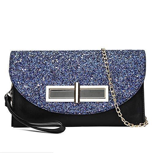 Bag donna Clutch Languanglin strato con multi spalla Messenger paillettes d Moda A R5Zww1q