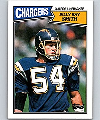 buy online b8b1a ea0e7 Amazon.com: 1987 Topps #348 Billy Ray Smith Chargers NFL ...