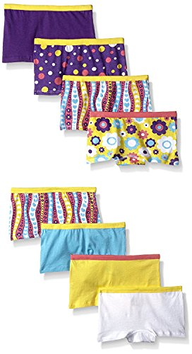 Fruit Of The Loom Girls' Boyshort (Pack Of 8) (Assorted, Size 12 (84-95 lbs./Waist: 25