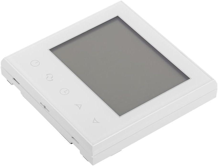 Blanc Neufday Contr/ôleur de temp/érature Intelligent avec Thermostat LCD programmable Digital pour Usage Domestique