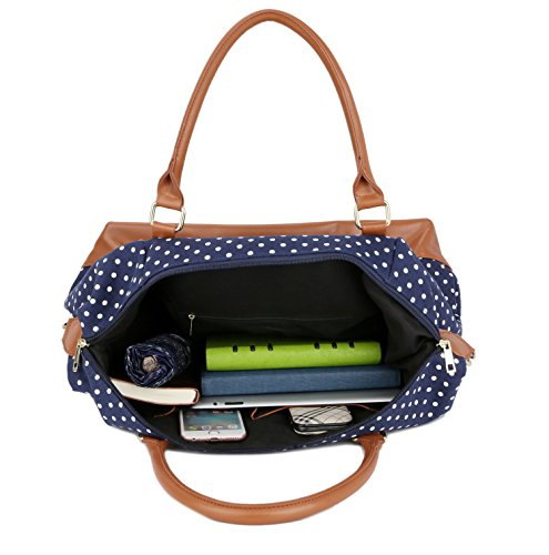 5a0832d2ecef BAOSHA HB-28 Ladies Women Canvas Travel Weekender Bag Overnight Carry-on Shoulder  Duffel