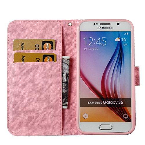 Samsung Galaxy S7 Edge PU Cuero Funda, Vandot 3D Bling Rhinestones Mariposa Shell TPU Inner Bumper Case Funda con Billetera Tapa Holster Cierre Magnético Tarjeta Ranura Carcasa Teléfono Concha Bolsa C DZCH3-4