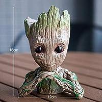 Eitheo Baby Groot Pen Stand Cum Flower Pot Planter Pot Action FiguresCute Model (Design 3)
