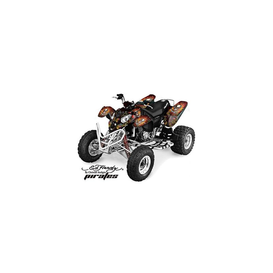Ed Hardy AMR Racing 2002 2011 Polaris Predator 500 ATV Quad, Graphic Kit   Pi