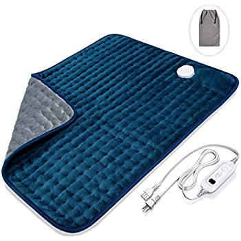 Veken XXL Electric Heating Pad with Fast-Heating Technology, Moist/Dry Heat, Auto Shut-Off and Machine Washable, 20