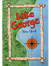 Toland Home Garden Lake George Map 12.5 x 18 Inch Decorative New York State Compass Regional Garden Flag