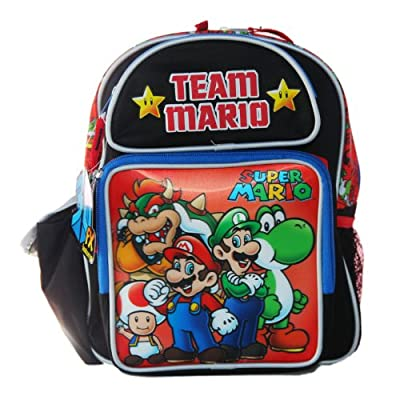 good Accessory Innovations Super Mario Team Mario Small Backpack Bag ... a68b67732393c