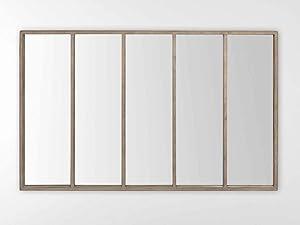 EMDE Miroir rectangulaire en métal Effet vitre 140x90cm Factory
