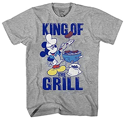 Disney Mickey Mouse King of The Grill Men's Adult Graphic Tee T-Shirt