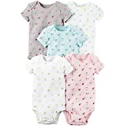 Carter's Baby Girls' Multi-Pk Bodysuits 126g332, Floral, 3 Months