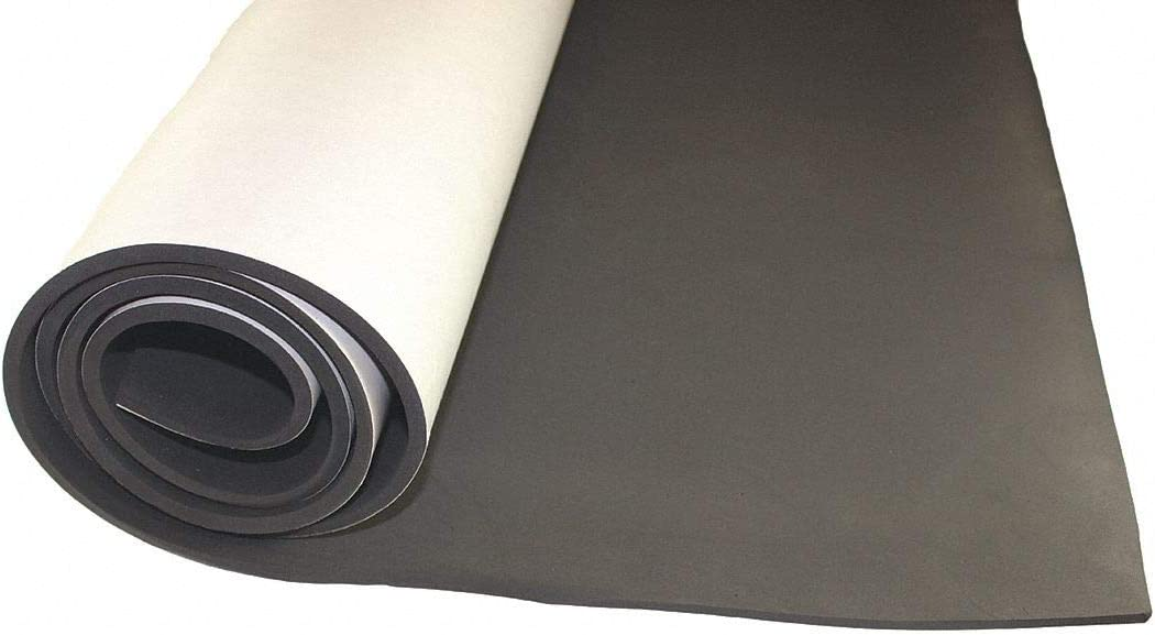 EPDM 1//2 W X 50 ft L Black 1//8 Thick Water-Resistant Closed Cell Foam Strip