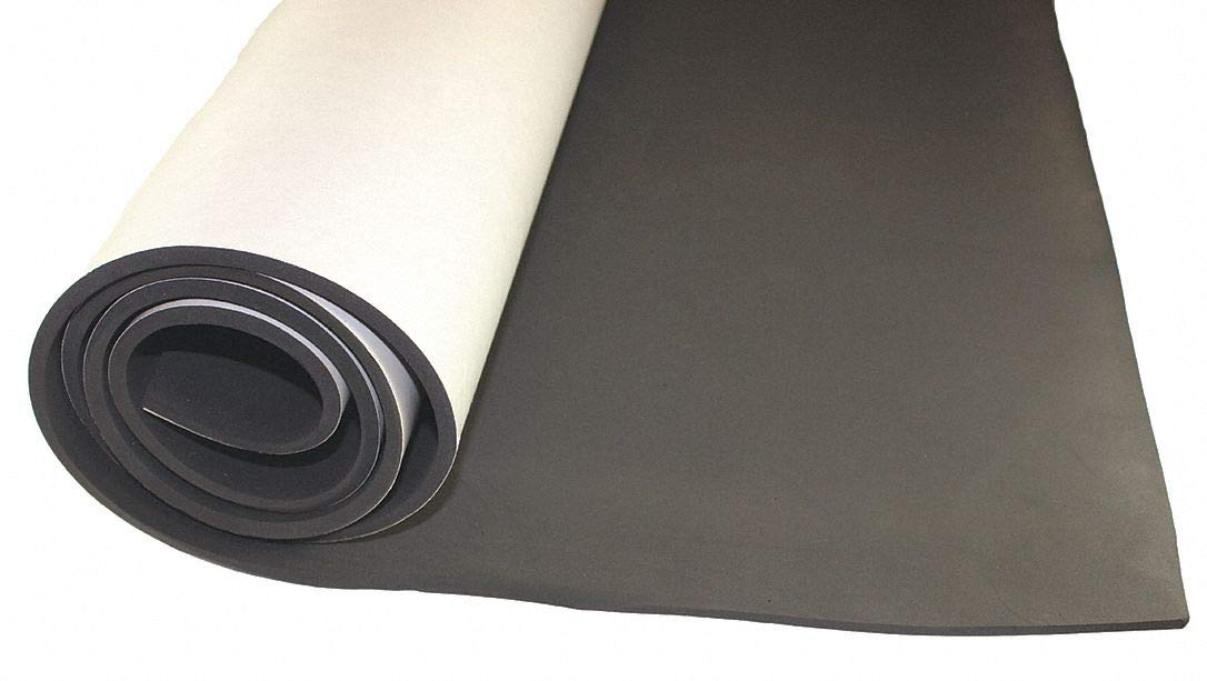 Water-Resistant Closed Cell Foam Strip, Neoprene, 5/16'' Thick, 1/2'' W X 50 ft. L, Black