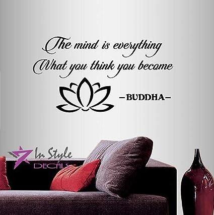 Wall Vinyl Decal Home Decor Art Sticker Buddha Quotethe Mind Is
