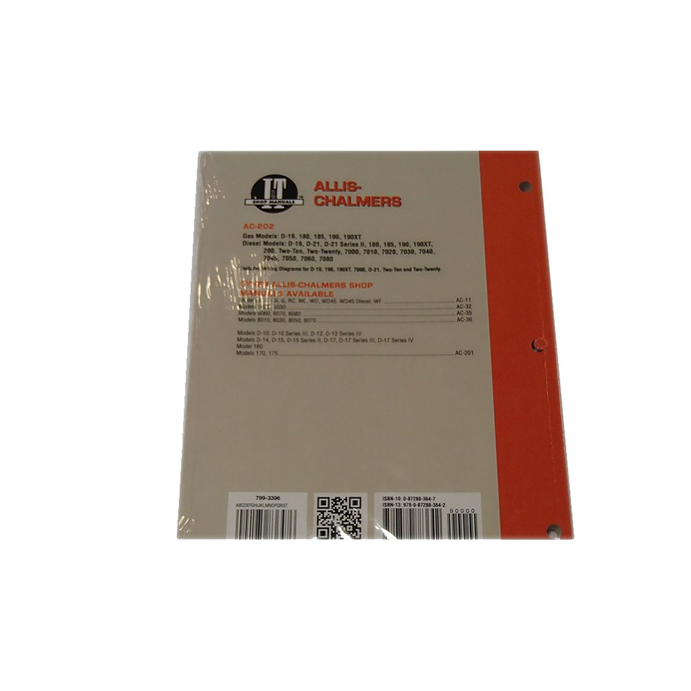Allis Chalmers D19 D 19 Tractor Diesel Service Manual Wiring Library M9540 Kubota Diagram Amazoncom It Shop Ac 202 For D10