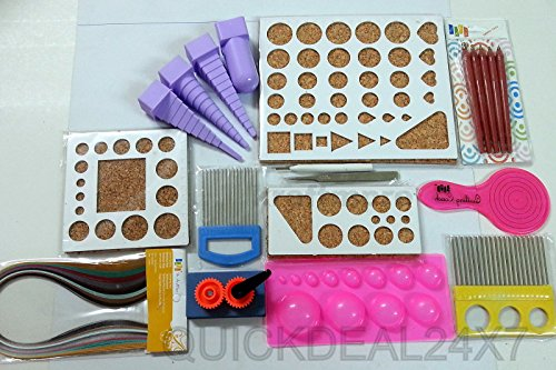 Quilling Tools Kit Border Buddy,paper,comb,border Buddy,3d Mould Slooted,strip,crimper,coach,embossing Tool by Indianvendor