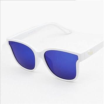 Persönlichkeit Flache Farbe Film Sonnenbrille Weibliche Tide Big Box Flache Reflektierende Sonnenbrille Gläser,A5