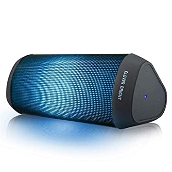 LED Bluetooth Speaker,Night Light Wireless Speaker,Portable Wireless Bluetooth Speaker Outdoor,7 Color LED Themes,Handsfree//Phone//PC//AUX//TWS Supported