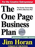 img - for The One Page Business Plan for the Creative Entrepreneur book / textbook / text book