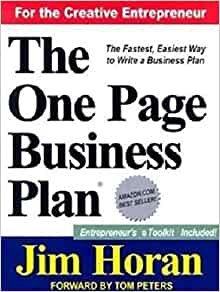 One Page Business Plan