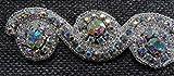 Homemusthaves Handmade Crystal Rhinestone Trim Chain Beaded Applique by Yard Feet Wedding Bridal Accessory Hot Fix (7 Rainbow)