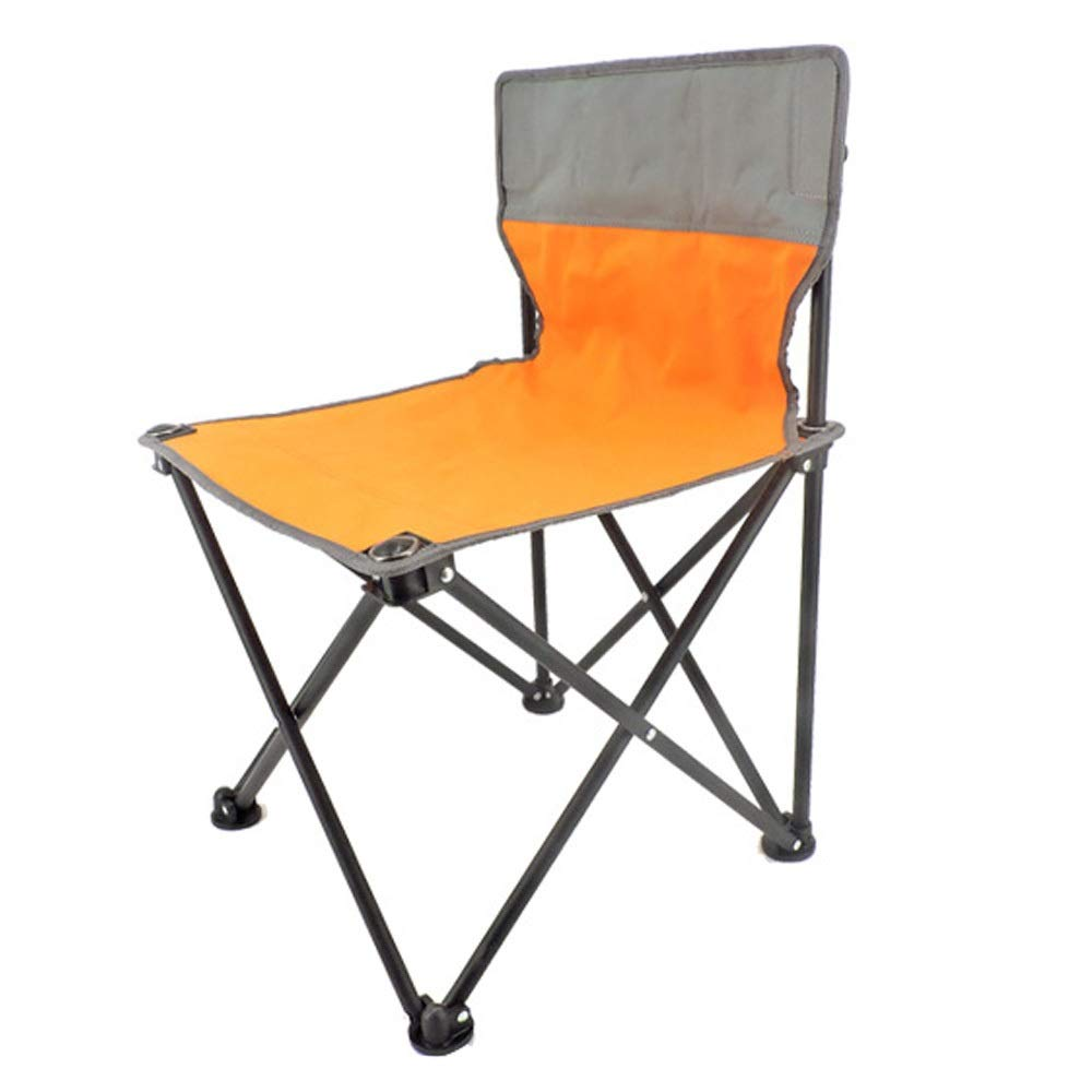 Folding Chair Portable Outdoor Park Camping Folding Chair Picnic Portable Chair Adult Folding Chair (Color : Orange, Size : 3352cm)