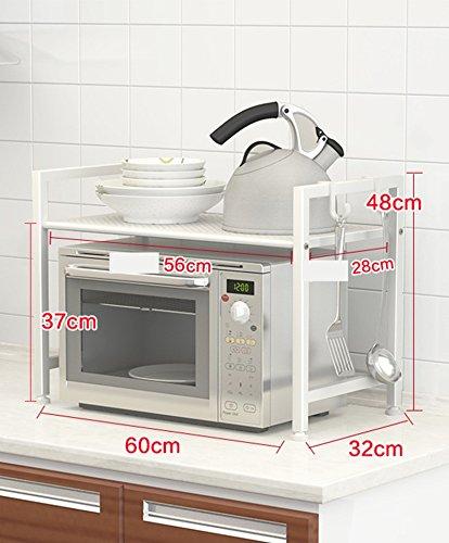 Cocina 2 doble estante de almacenamiento estante microondas de ...