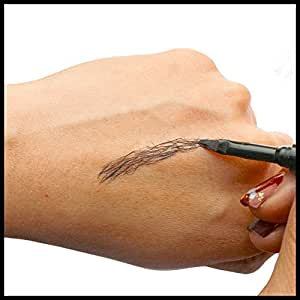 Brow Extension Hair Fiber, Eyebrow Recovery/Reshape Hair Fiber Replace Brow Tattoo,Eyebrow Pencil by Fanshoose (BLACK)