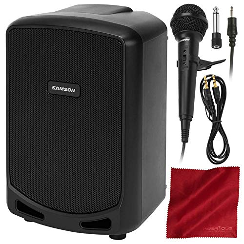 Samson Expedition Escape Rechargeable Speaker System with Bluetooth and Dynamic Microphone Accessory Bundle (Samson Player Mp3)