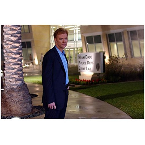 CSI: Miami David Caruso as Lt. Caine in front of police station 8 x 10 Inch Photo