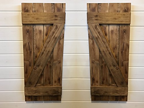Barn Door Style Rustic Fire-Treated Wood Shutters