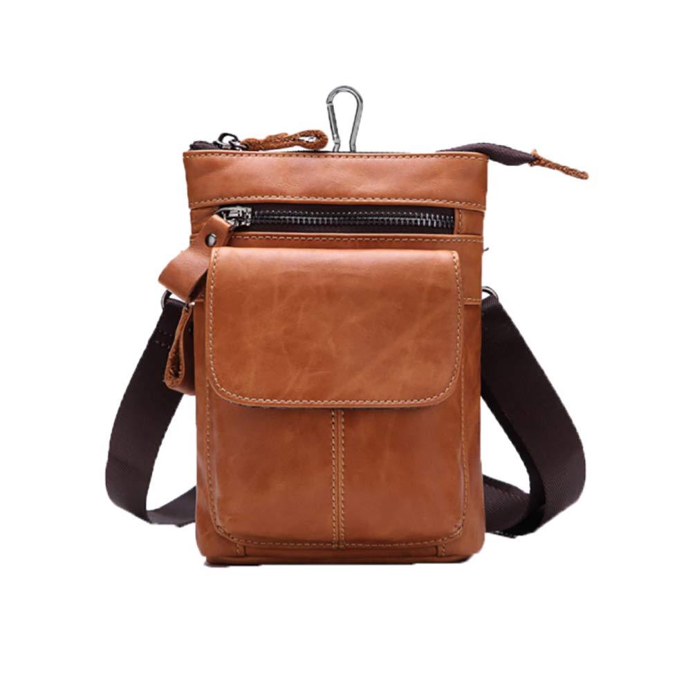 Mens Fanny leather leather leather leather belt belt belt shoulder strap head layer cowhide multifunctional business bag