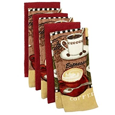 The Big One® 6 Pack Coffee Kitchen Towels