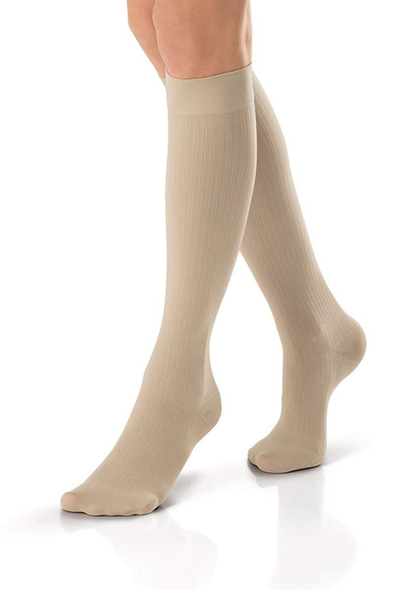 Jobst soSoft Women Ribbed Knee Highs 15-20mmHg, S, Sand by Jobst B071KPPJDZ