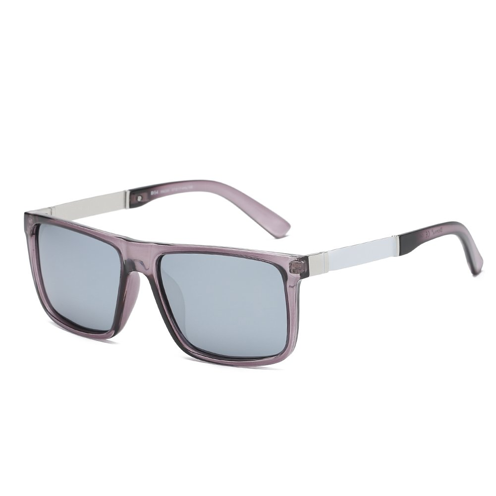 26c2a4bcd3e DONNA Trendy Oversized Square Aviator Polarized Sunglasses Wayfarer Style  with Big Unbreakable Frame and Anti-glare Lens D54