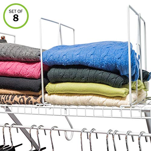 Evelots Closet Wire Shelf Divider-New & Improved-Separator-Easy ()