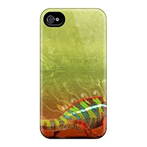 Hot Tpu Cover Case For Iphone/ 4/4s Case Cover Skin - Colorful Creature