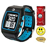 GolfBuddy WT5 Golf GPS/Rangefinder Watch (40k+ Preloaded Worldwide Courses) Bundle with 1 Sleeve (3 Balls) Callaway Chrome Soft and Magnetic Hat Clip Ball Marker (Smiley Face)