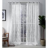 Best Exclusive Home Curtains Home Fashion Curtains Whites - Exclusive Home Edinburgh Sheer Branch Burnout Window Curtain Review