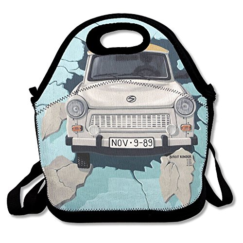 Richard Lyons Berlin March The Painting From Birgit Kinder Of The Trabant In The East Side Gallery The Insulation Go To School Lunch (Gallery Lunch Tote)