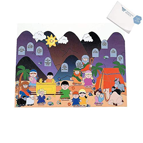(Bargain World Paper Giant Ten Commandments Sticker Scenes (With Sticky Notes))